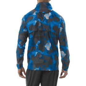 asics fuzeX Packable Kurtka Mężczyźni, camo geo directoire blue